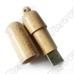 圆头木质U盘