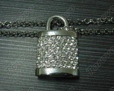 钥匙扣水晶U盘