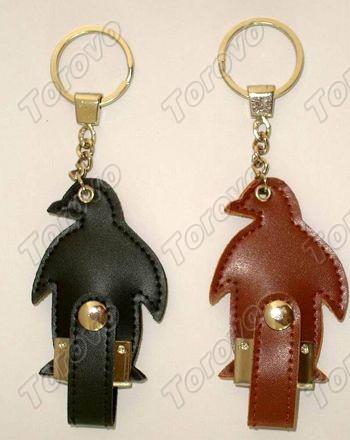 棕黑色企鹅皮套U盘