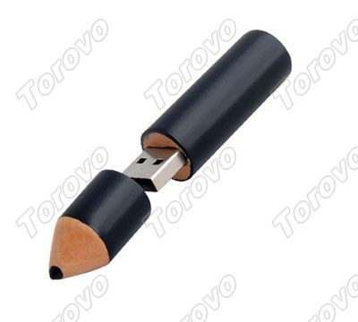 天然竹木质外壳铅笔U盘