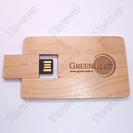 礼品U盘定做,创意真是无限啊,木质卡片U盘上市