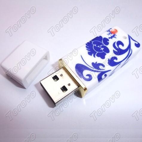 体现浓厚中国风精美青花瓷U盘定制