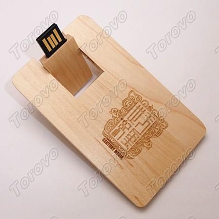 北京天玺世纪公司木头卡片U盘定制