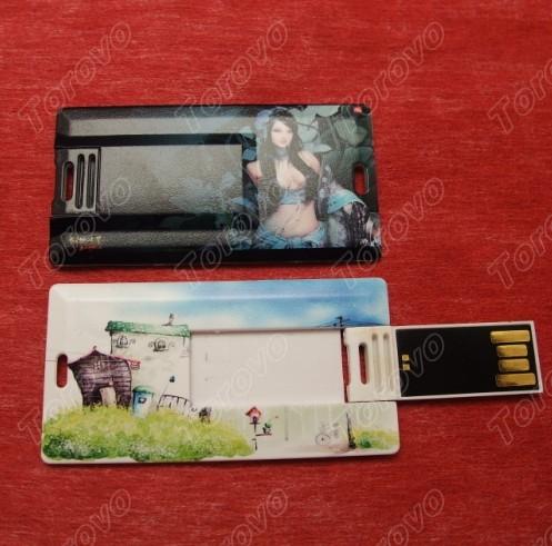 迷你翻盖式的卡片U盘商务品馈赠品
