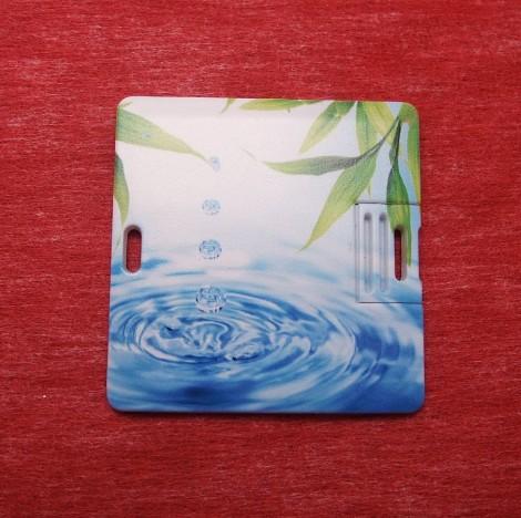 方块形状旅游卡片U盘客户礼品首选