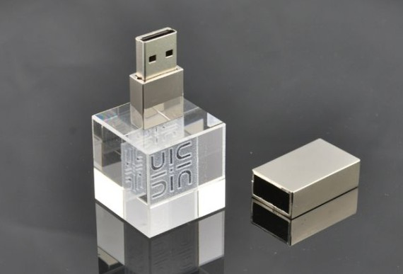 畅销水晶彩灯U盘led水晶U盘系列