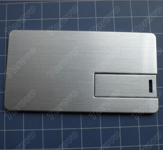 企业定制商务版翻转式金属卡片U盘