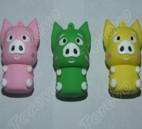 小美猪U盘 小猪卡通硅胶系列款式