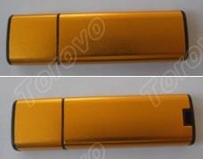 弧形铝管U盘 磨砂全铝料商务U盘