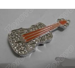 水晶小提琴U盘 珠宝送礼佳品U盘