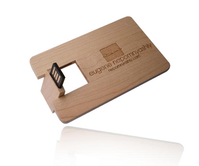 木质卡片式U盘,环保耐用抗电磁干扰