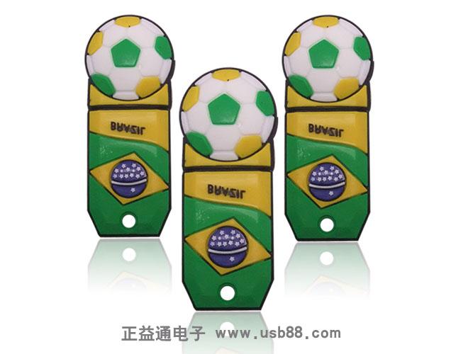巴西足球奖杯U盘,PVC优盘
