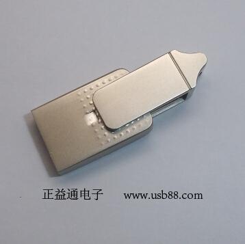 屋塔型旋转手机U盘――白皙铝材U盘外壳