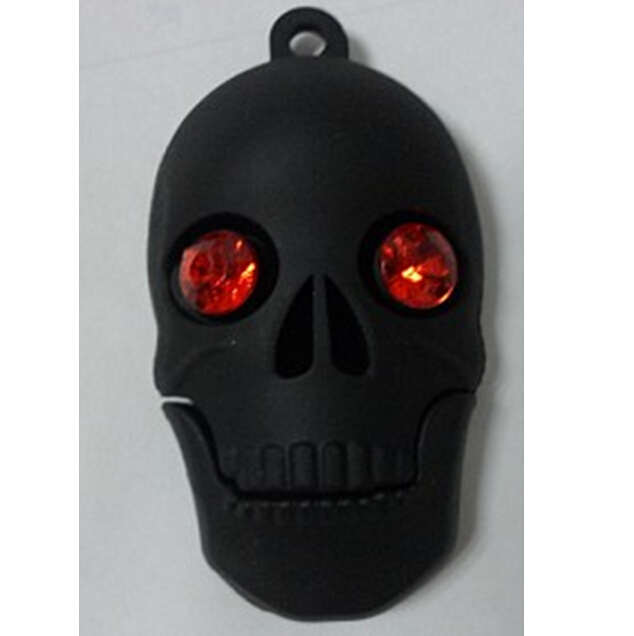 骷髅头U盘,PVC材质,怕么